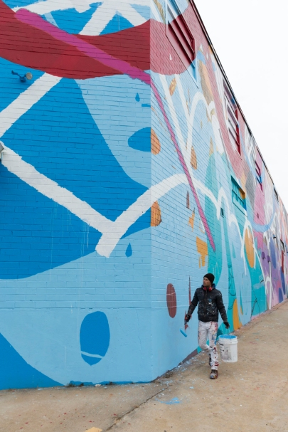 Full building mural by HENSE